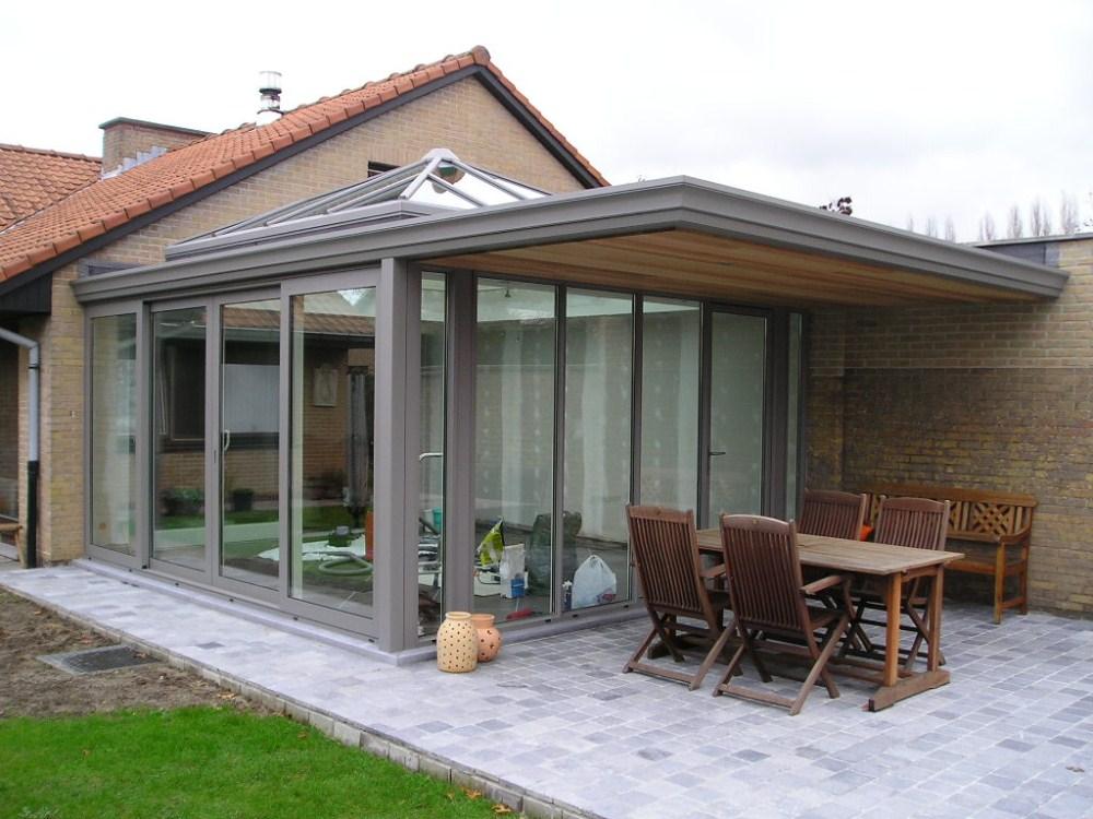 Plat dak met lichtstraat topkwaliteit in leefveranda 39 s veranda veranda design veranda ontwerp - Pergola dak platte ...